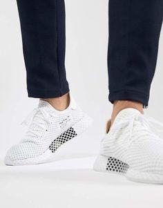 bfce7b262e70b Adidas Originals Deerupt Runner Trainers In White Cq2625 Adidas Originals