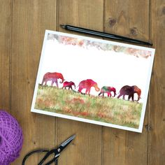DOWNLOADABLE   Five Elephants, Printable, Wall Art, Artwork Download