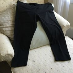 Lululemon yoga/workout crop length pants Lululemon black workout pants. Size 10. Cropped. Repos; not flattering on my figure  lululemon athletica Other