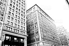 Buildings and streets of Manhattan, New York royalty-free stock photo