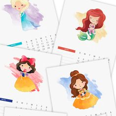 Need help staying organized in I've rounded up 20 beautiful and free printables – from calendars to planner inserts – that'll do just the job! Cat Calendar, Calendar 2017, Free Printable Calendar, Printable Planner, Free Printables, Princess Style, Cute Characters, Character Illustration, Disney Magic
