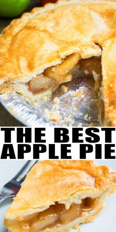 Easy Apple Pie Recipe From Scratch-Classic, Old Fashioned, Homemade With Simple Ingredients. It's The Best And Has A No-Fail Buttery Flaky Pie Crust And A Homemade Apple Pie Filling. Can Be Made Mini Sized Or With A Crumble Too. Apple Pie Recipe Easy, Homemade Apple Pie Filling, Best Apple Pie, Easy Pie Recipes, Apple Pie Recipes, Homemade Pie, Baking Recipes, Classic Apple Pie Recipe, Apple Pie Fillings