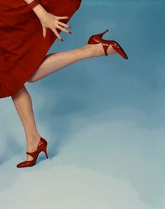 Richard Rutledge, 1958. Fleming-Joffe shoes. This image was chosen for the cover of Vogue, February 1958.
