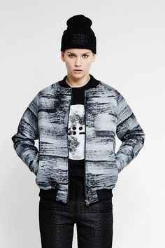 Calm Water Bomber Jacket by Bibi Chemnitz buy it from WeAreSelecters Stores.