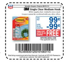 Rite Aid: FREE Command Hooks - no coupon necessary!