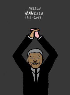 Nelson Mandela RIP - Jean Jullien