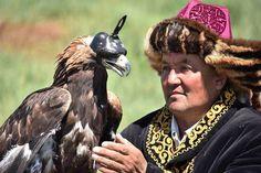 Kazakh eagle hunter