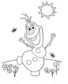Free Olaf Coloring Pages For Kids Printable