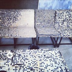 Recycled keyboard chairs by Christopher Thomas Allen, via Flickr