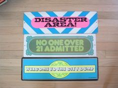 Paper Signs: Disaster area could apply to every room in our home. Vintage Paper, Vintage Signs, How To Apply, Room, Bedroom, Rooms, Rum, Peace