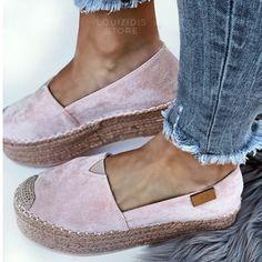 Εσπαντρίγιες Fyrla δίσολες ροζ Espadrilles, Women's Fashion, Shoes, Style, Espadrilles Outfit, Swag, Fashion Women, Zapatos