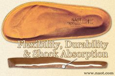 Flexibility, Durability  Shock Absorption - The comfort footbed is made of a unique, high-quality blend of cork and latex, granting it flexibility, shock absorbing qualities and long-term durability.  | #Naot shoes are available at www.TheShoeMart.com #TheShoeMart.