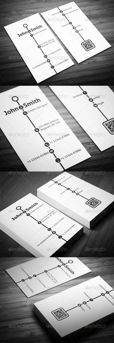 Creative Timeline Business Card - Creative Business Cards