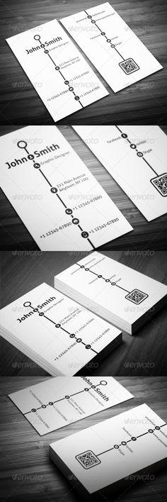 Creative Timeline Business Card - Creative Business Cards