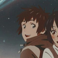 from the story ❪❪🍒❫❫ ❀ ,, 𝙖𝙣𝙞𝙢𝙚 𝙢𝙖𝙩𝙘𝙝𝙞𝙣𝙜 𝙞𝙘𝙤𝙣𝙨 . Kimi No Na Wa, Anime Love Couple, Cute Anime Couples, Photo Couple Amoureux, Arte 8 Bits, Kpop Anime, Otaku, Avatar, Your Name Anime