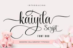 Kaiyila Script Font Duo by Barland on @creativemarket