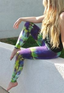 AkashaSun Mardi Gras Tie Dye Leggings | www.downdogboutique.com