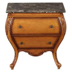Harrington Side Chest - Pecan     Our exclusive Harrington barreled side chest in antique mahogany provides deep-drawer storage. Handsome marble top, carved legs and side trim. Antiqued metal pulls.        Hardwood, veneer, marble      Modified density fiberboard      Also in antique mahogany finish