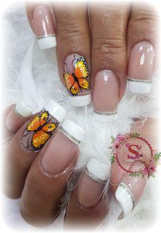 Butterfly Nail, Triangles, Nail Art, Nails, Beauty, Finger Nails, Sun, Fingernail Designs, Ongles
