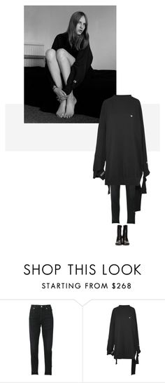 """/"" by darkwood ❤ liked on Polyvore featuring Citizens of Humanity and Vetements"