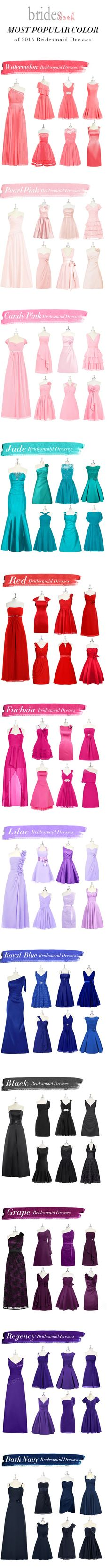 Whats hot for 2015 Bridesmaids Dress color trends