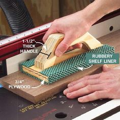Smart fit push block #woodworkingtips