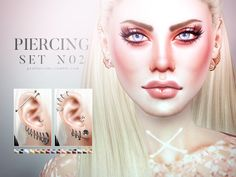 Sims 4 CC's - The Best: Piercing Sets for Male & Female Sims by Pralinesim...