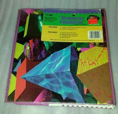Vintage Trapper Keeper Notebook 1993 Designer Series Mead- Geometric-w/ upc tag!
