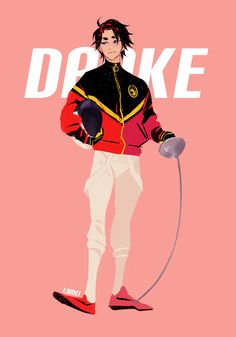 """lnmei: """"Tim Drake and Jason Todd in fencing AU. Tim's main weapon is epee, and Jason's is saber. They compete a lot in practice but trust each other on the strip :,) """""""