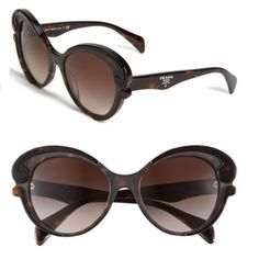 Prada sunglasses Prada Baroque cat eye sunglasses in tortoise shell. Perfect condition with no scratches and worn less than ten times. Comes with authenticity card, case and box. I also still have the orig receipt from neiman marcus. More pics of it modeled in additional posting. Prada Accessories Sunglasses