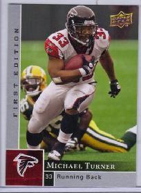 2009 upper deck michael turner #8 football card atlanta falcons.