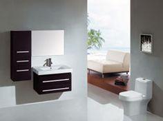 """27.6"""" Virtu Antonio UM-3081-ES bathroom vanity #BathroomRemodel #BlondyBathHome #BathroomVanity  #ModernVanity"""