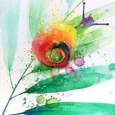 蝸牛的色彩很鮮明活潑可愛~!