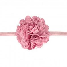 Haarspeldjes.com Oudroze babyhaarbandje met bloem