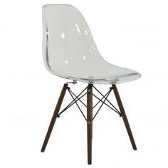 DSW Replica Dining Chair Clear Walnut
