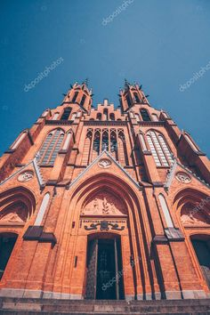 Catholic Churches, Roman Catholic, Cathedral Basilica, Watercolor Background, Birds In Flight, Editorial Photography, Poland, Poppies, Tourism