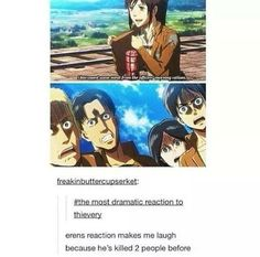 And helped Mikasa kill the third guy. But stealing? *GASP* How COULD you?!?!