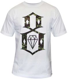 REBEL8 Fall Camo T-shirt blanc pour homme
