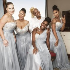 Loving this fun photo of @premadonna87 and her lovely ladies right before she put on her amazing gown designed by @bridesbynona