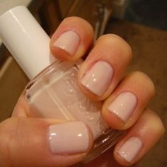 i really want a pinkish/beige color nail polish for my wedding day... i feel like the whole acrylic french tip nails are overrated. natural looks much better!!
