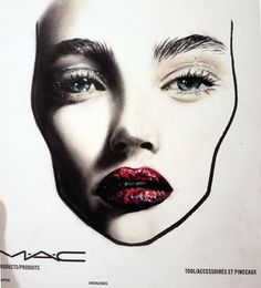 MAC face chart by Amalia Bot Mac Face Charts, Makeup Face Charts, Special Effects Makeup, Glitter Lips, Makeup Forever, Cosmetology, Love Art, Mac Cosmetics, Brows