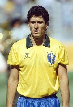 Sport, Football, 1990 World Cup in Italy, Turin, 24th June 1990, Brazil 0 v Argentina 1, Jorghino, Brazil defender
