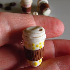 To Go Coffee Cup Espresso Charm Miniature by CobaltMoonJewelry, $15.00 for set of 5