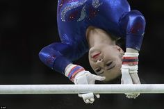 Britain's Claudia Fragapane performs on the uneven bars during the artistic gymnastics wom...
