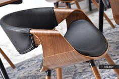 Krzesło Bent orzech - czarny do jadalni - wysoka jakość wykonania i niepowtarzalny design Orzo, Chair, Furniture, Home Decor, Decoration Home, Room Decor, Home Furnishings, Chairs, Arredamento