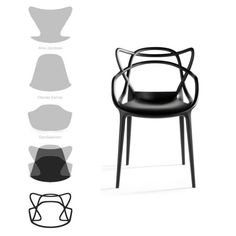 Three icons in just one chair: MASTERS designed by Philippe Starck for Kartell