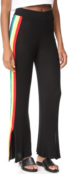 Wildfox Couture Alaya Racing Stripe Pants