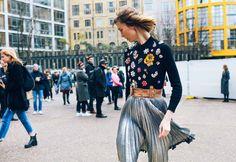 Anya Ziourova in an Alexander McQueen sweater and 3.1 Phillip Lim skirt
