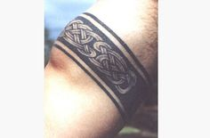 Celtic Armband tattoos are made of sinuous lines that have beginning or end and intricately interweaves to form a complete cycle.