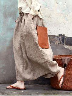 Casual Hollow Cropped Long Cover-up Skirt Fashion, Boho Fashion, Elastic Waist Pants, Linen Bag, Loose Sweater, Skin So Soft, Work Wardrobe, Crop Shirt, One Piece Swimwear